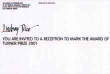 Turner prize invitation